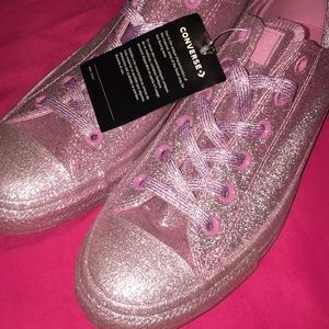 Sparkly Pink Converse All Stars
